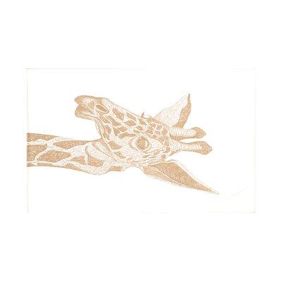 La Jirafa Safari Print Throw Blanket Size: 60 L x 50 W, Color: Almond Butter (Off White)
