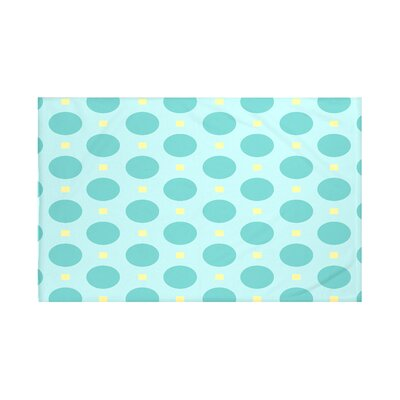 Dot Dash Geometric Print Throw Blanket Size: 60 L x 50 W, Color: Jade (Light Blue/Jade)