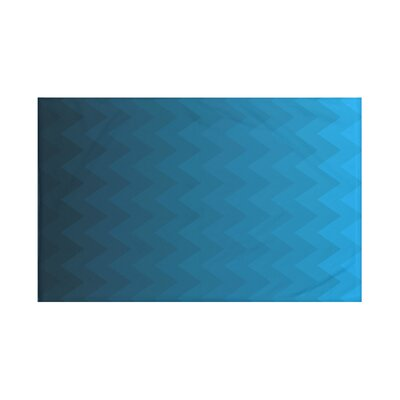 Depth Perception Chevron Print Throw Blanket Size: 60 L x 50 W, Color: Teal