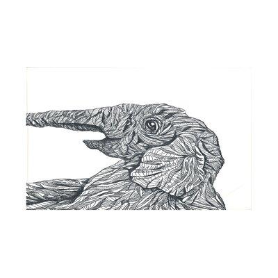 El Elefante Safari Print Throw Blanket Size: 60 L x 50 W, Color: Black (Off White/Black