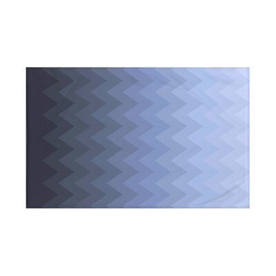 Depth Perception Chevron Print Throw Blanket Size: 60 L x 50 W, Color: Cadet (Blue)