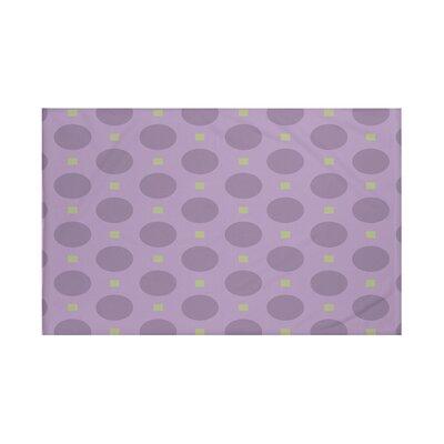 Dot Dash Geometric Print Throw Blanket Size: 60 L x 50 W, Color: Larkspur (Purple/Green)