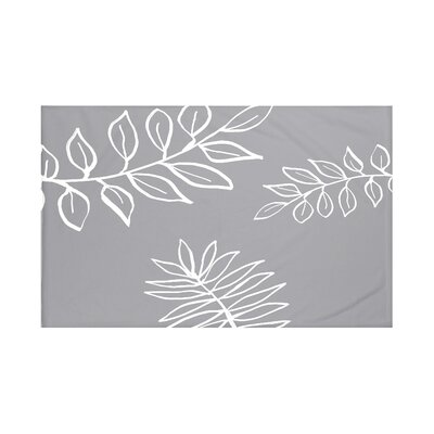 My Best Frond Floral Print Throw Blanket Size: 60 L x 50 W, Color: Classic Gray (Dark Gray/Off White)