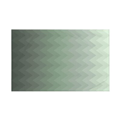 Depth Perception Chevron Print Throw Blanket Size: 60 L x 50 W, Color: Herb Green (Green)