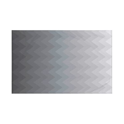 Depth Perception Chevron Print Throw Blanket Size: 60 L x 50 W, Color: Steel Gray (Dark Gray)