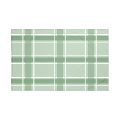 "Criss Cross Applesauce Plaid Print Throw Blanket Size: 60"" L x 50"" W, Color: Pale Celery (Green)"