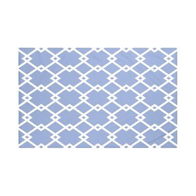 "Link Lock Geometric Print Throw Blanket Size: 60"" L x 50"" W, Color: Cornflower (Light Blue)"