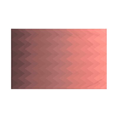 Depth Perception Chevron Print Throw Blanket Size: 60 L x 50 W, Color: Mahogany (Rust)