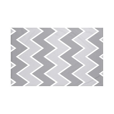 Inside The Lines Chevron Print Throw Blanket Size: 60 L x 50 W, Color: Classic Gray (Gray)