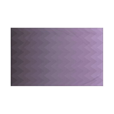 Depth Perception Chevron Print Throw Blanket Size: 60 L x 50 W, Color: Mulberry (Purple)
