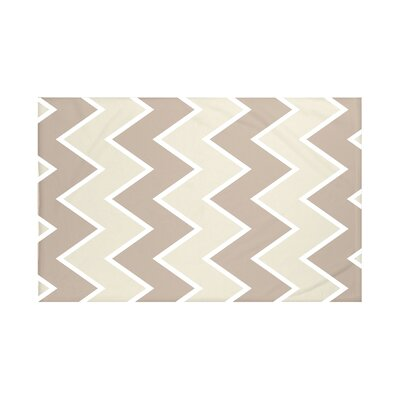 Inside The Lines Chevron Print Throw Blanket Size: 60 L x 50 W, Color: Flax (Taupe)
