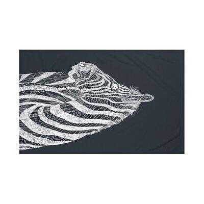 La Cebra Safari Print Throw Blanket Size: 60 L x 50 W, Color: Black