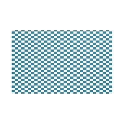 Gingham Check Geometric Print Throw Blanket Size: 60 L x 50 W, Color: Teal (Teal/Light Blue)