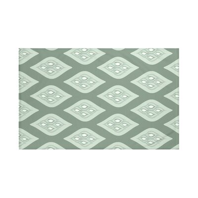 Tail Feathers Geometric Print Throw Blanket Size: 60 L x 50 W, Color: Herb Green (Green)