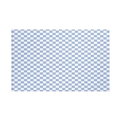 Gingham Check Geometric Print Throw Blanket Size: 60 L x 50 W, Color: Cadet (Light Blue)