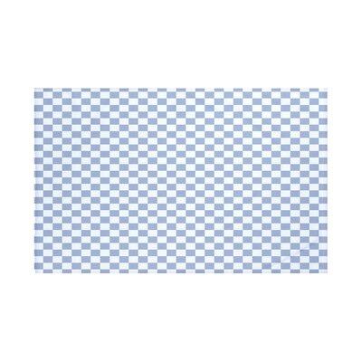 Gingham Check Geometric Print Throw Blanket Size: 60 L x 50 W, Color: Cadet (Light Blue)