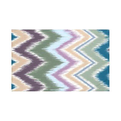 Ikat-arina Chevron Print Throw Blanket Size: 60 L x 50 W, Color: Herb Green (Green)