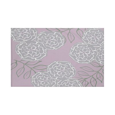 Mums The Word Floral Print Throw Blanket Size: 60 L x 50 W, Color: Smog (Purple/Gray)