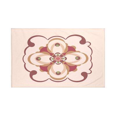 "Kaleidoscope Too Geometric Print Throw Blanket Size: 60"" L x 50"" W, Color: Brick (Taupe/Rust)"