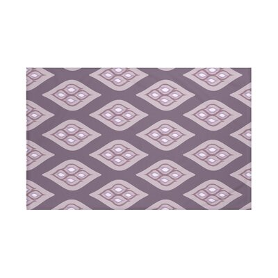 Tail Feathers Geometric Print Throw Blanket Size: 60 L x 50 W, Color: Smog (Purple)