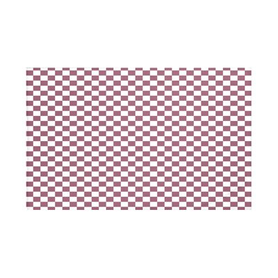 Gingham Check Geometric Print Throw Blanket Size: 60 L x 50 W, Color: Passion Flower (Purple)