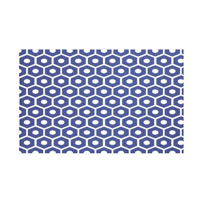 Honeycomb Pop Geometric Print Throw Blanket Size: 60 L x 50 W, Color: Blue Suede (Royal Blue)