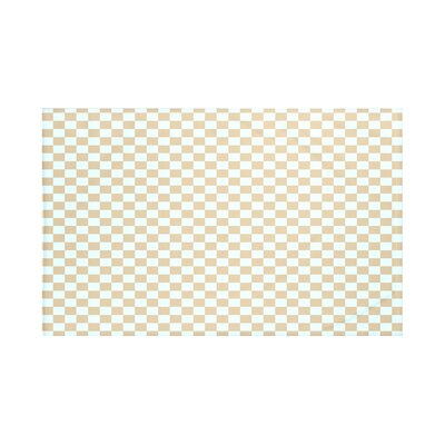 Gingham Check Geometric Print Throw Blanket Size: 60 L x 50 W, Color: Pebble (Taupe/Light Blue)