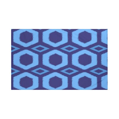 Hugs and Kisses Geometric Print Throw Blanket Size: 60 L x 50 W, Color: Brighter Sky (Royal Blue/Blue)