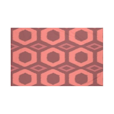 Hugs and Kisses Geometric Print Throw Blanket Size: 60 L x 50 W, Color: Seed (Rust/Coral)