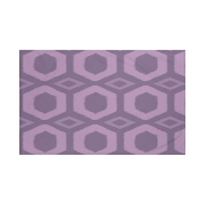 Hugs and Kisses Geometric Print Throw Blanket Size: 60 L x 50 W, Color: Sachet (Purple)