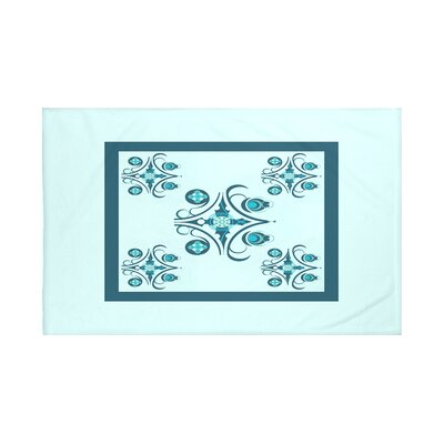 Hanky Geometric Print Throw Blanket Size: 60 L x 50 W, Color: Seaside (Aqua/Teal)