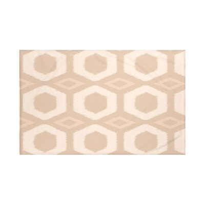 Hugs and Kisses Geometric Print Throw Blanket Size: 60 L x 50 W, Color: Sand (Taupe)