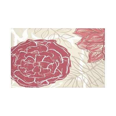 Flowers and Fronds Floral Print Throw Blanket Size: 60 L x 50 W, Color: Brick (Rust/Coral)