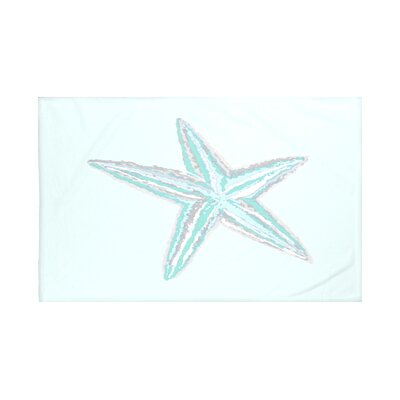 Sea Star Coastal Print Throw Blanket Size: 60 L x 50 W, Color: Jade (Green/Aqua)