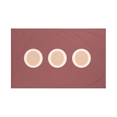 Zen Geometric Print Throw Blanket Size: 60 L x 50 W, Color: Mahogany (Rust/Taupe)