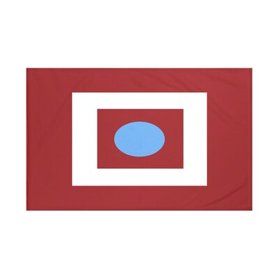 Square Peg Round Circle Geometric Print Throw Blanket Size: 60 L x 50 W, Color: Cardinal (Red/Blue)