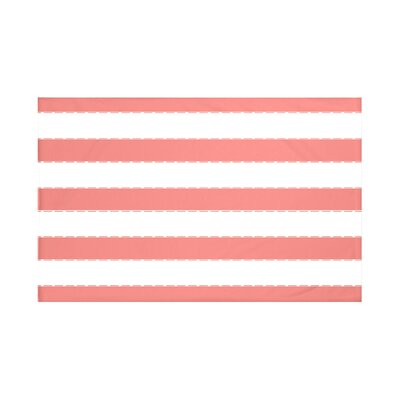 """Stitch in Time Stripes Print Throw Blanket Size: 60"""" L x 50"""" W, Color: Seed (Coral)"""