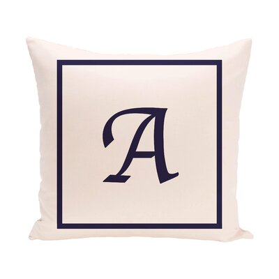 Geneva Box Monogram Throw Pillow