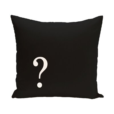 Question Corner Throw Pillow Size: 16 H x 16 W x 2 D