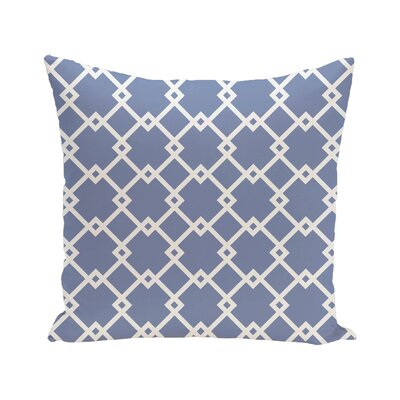 Link Lock Geometric Print Outdoor Pillow Color: Cornflower, Size: 20 H x 20 W x 1 D