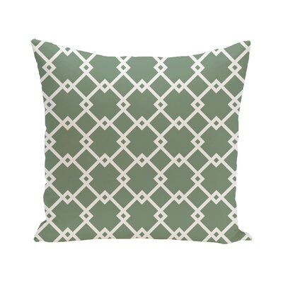 Link Lock Geometric Print Outdoor Pillow Color: Wintergreen, Size: 20 H x 20 W x 1 D