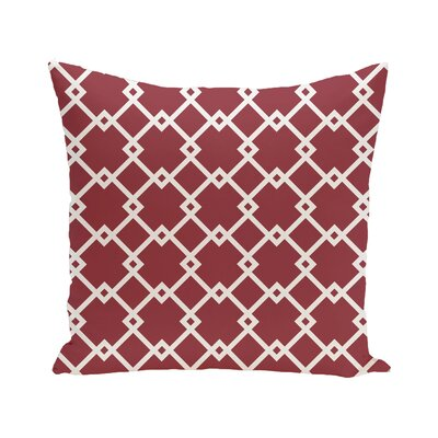 Link Lock Geometric Print Outdoor Pillow Color: Brick, Size: 16 H x 16 W x 1 D