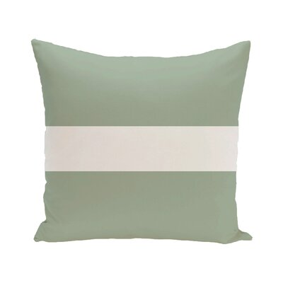 Narrow the Gap Stripe Print Outdoor Throw Pillow Size: 18 H x 18 W x 1 D, Color: Pale Celery