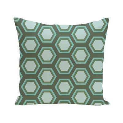 Australe Geometric Print Outdoor Pillow Size: 20 H x 20 W x 1 D, Color: Seaglass