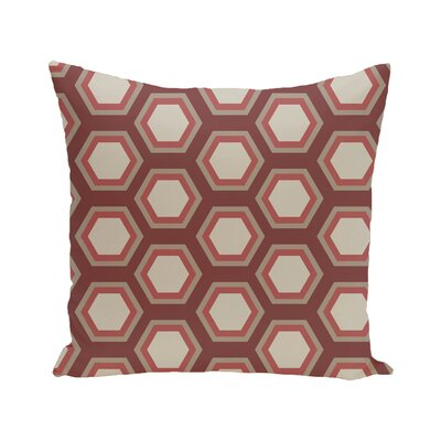 Australe Geometric Print Outdoor Pillow Color: Mahogany, Size: 16 H x 16 W x 1 D