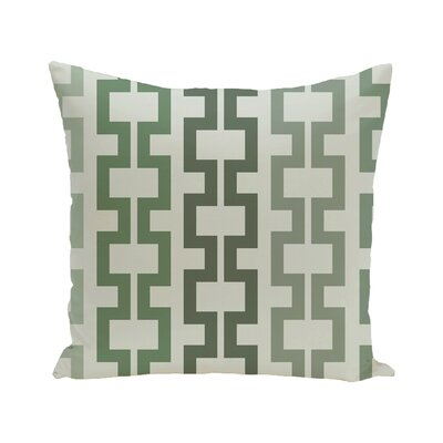 Cuff-Links Geometric Print Outdoor Pillow Color: Herb Green, Size: 18 H x 18 W x 1 D