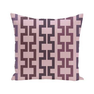 Cuff-Links Geometric Print Outdoor Pillow Color: Mulberry, Size: 16 H x 16 W x 1 D