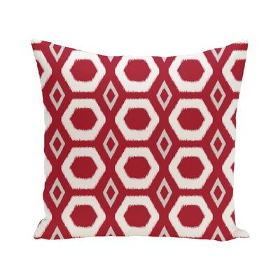 E By Design Bold Geometric Decorative Outdoor Floor Pillow - Color: Red