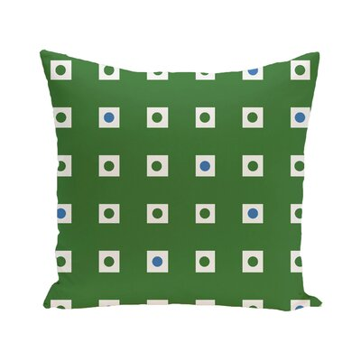 Hip To Be Square Geometric Print Outdoor Pillow Size: 20 H x 20 W x 1 D, Color: Leaf Green