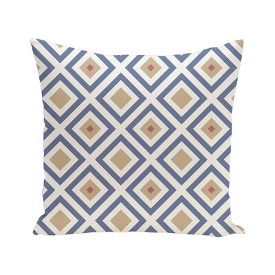 Diamond Mayhem Geometric Print Outdoor Pillow Color: Cadet, Size: 16 H x 16 W x 1 D